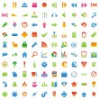 Vector web icons with details — Stock Vector