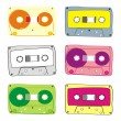 Stock Vector: Vector audio cassette