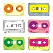 Vector audio cassette — Stock Vector