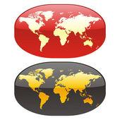 Vector editable colored world map — Stock Vector