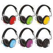 Vector illustration headphones — Stock Vector