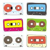 Cassette audio vector — Vector de stock