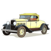 Vector isolated old colored car — Stock Vector