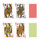 Vector high quality playing cards — Stock Vector