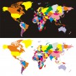 World map with all countries — Imagen vectorial