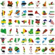 Isolated african flags in map shape — Stock Vector #3042472
