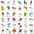 thumbnail of Isolated american flags in map shape