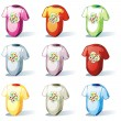 Isolated baby t-shirt set — Stock Vector