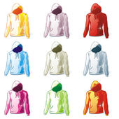 Isolated hoodies set — Stock Vector