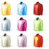 Isolated jacket set — Stock Vector