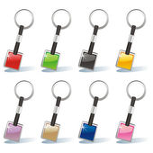 Isolated colored key chain set — Stock Vector