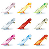 Isolated colored skateboard set — Stock Vector
