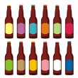 Royalty-Free Stock Vector Image: Isolated beer bottles set