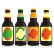 Isolated beer bottles set — Stock Vector