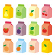 Royalty-Free Stock Vector Image: Isolated juice carton boxes