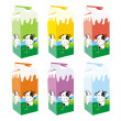 Vettoriale Stock : Isolated milk carton boxes