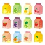 Isolated fruit yogurt carton boxes — Stock Vector