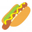 Isolated hot-dog — Stock Vector