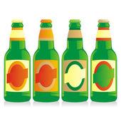 Isolated beer bottles set — Stock Vector