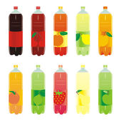 Isolated carbonated drinks set — Stock Vector