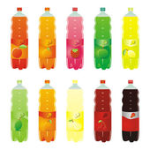 Isolated carbonated drinks set — 图库矢量图片
