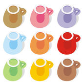Isolated espresso cups — Vector de stock