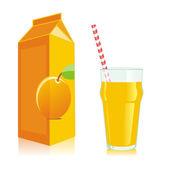 孤立的橙汁收件人 — 图库矢量图片