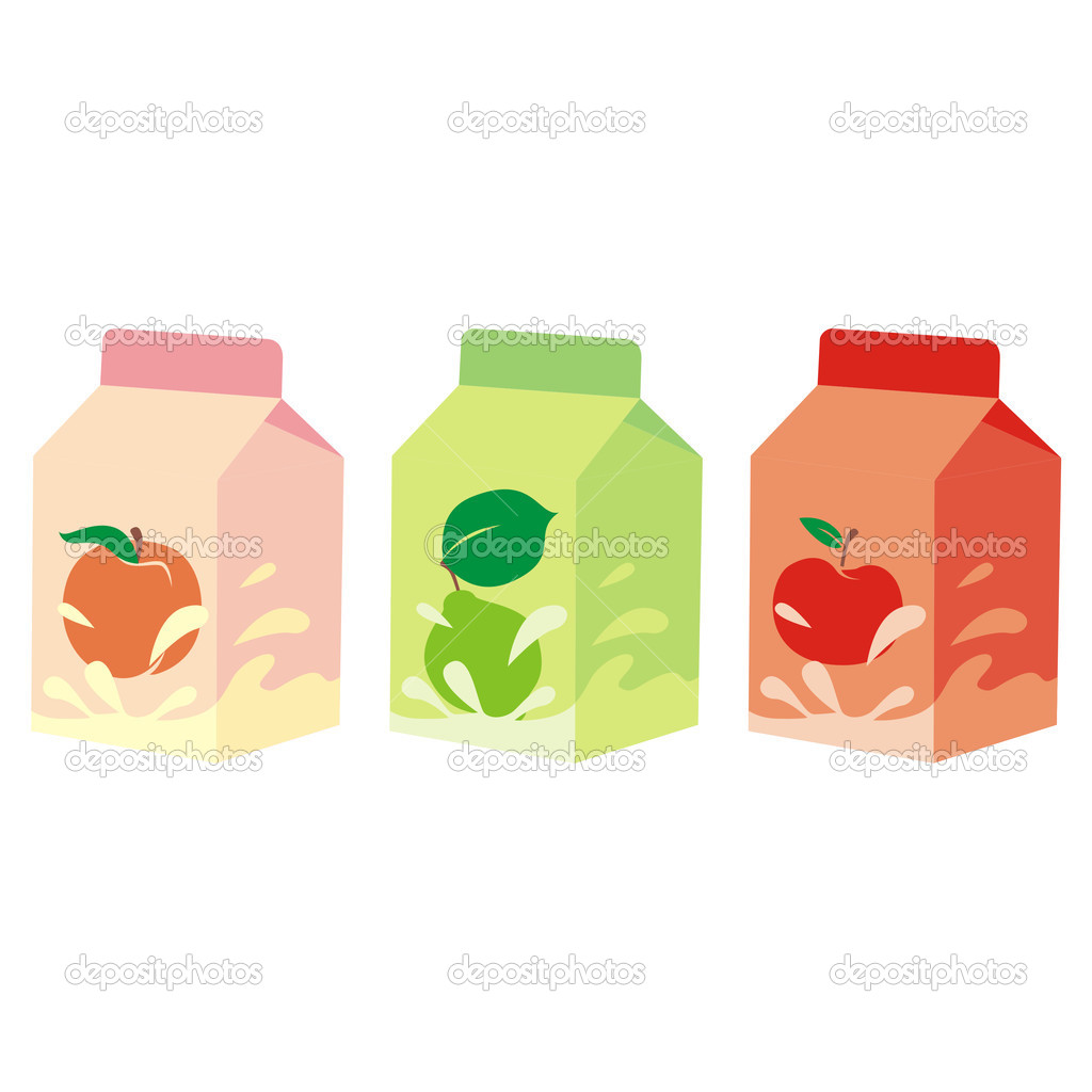 Vector illustration of isolated fruit yogurt carton boxes  Stock Vector #3129336