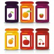 Isolated jam jars set - Stock Vector