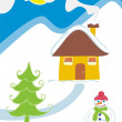 Royalty-Free Stock Vector Image: Winter landscape