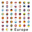 Isolated european flags — Stock Vector #3130796