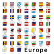 Isolated european flags — Stock Vector
