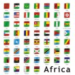 Isolated african flags - Stock Vector