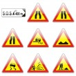Isolated european road signs — Stock Vector #3130939