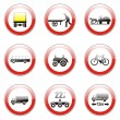 Isolated european road signs — Stock Vector #3131002