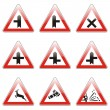 Isolated european road signs - Image vectorielle