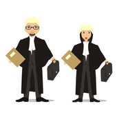 Isolated barrister couple — Stock Vector