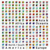 Two hundred fully editable vector flags — Stock Vector