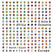 Två hundra fullt redigerbara vektor flaggor — Stockvektor