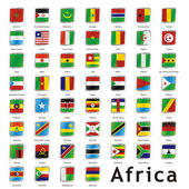 Isolierte afrikanische fahnen — Stockvektor