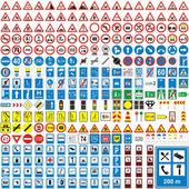 Znaki drogowe na białym tle europejskich — Wektor stockowy