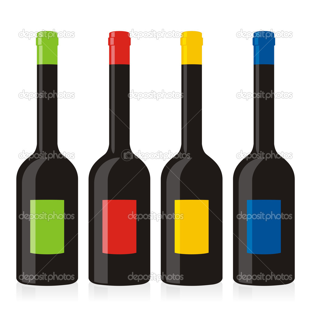 Vector illustration of isolated balsamic vinegar bottles set — Stock Vector #3130310