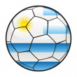 Royalty-Free Stock Vector Image: Flag of Uruguay on soccer ball