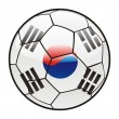 Flag of South Korea on soccer ball — Stock Vector