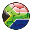 Royalty-Free Stock Vector Image: Flag of South Africa on soccer ball