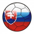 Flag of Slovakia on soccer ball — Stock Vector