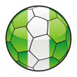 Stock Vector: Flag of Nigeria on soccer ball