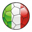 Flag of Italy  on soccer ball — Stock Vector