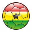 Flag of Ghana on soccer ball — Stock Vector
