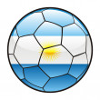 Flag of Argentina on soccer ball — Stock Vector